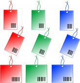 colorful Price tags isolated on a white background