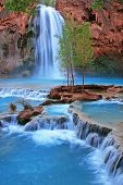 foto of grand canyon  - The stunning Havasu Falls flowing in all of her beauty - JPG