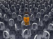 Money And Currency Security - Locked Padlock