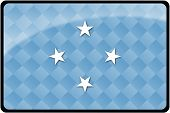 Micronesia Flag Button