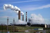 Greenhouse Gases Eminate From The Factory In Large Quantity