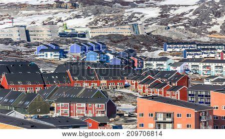 Greenlandic colorful houses