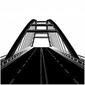 Road The Bridge Vector