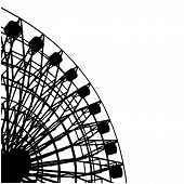 picture of ferris-wheel  - Circus Carnival Rotate Carousel Isolated Illustration Vector - JPG