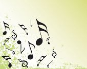musical notes grunge background vector illustration