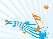 music notes vector illustration abstract background