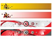 web 2.0 style musical series website banner set 2, illustration