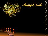 deepawali background with deepak, design