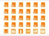 icon for computer file format, vector illustration