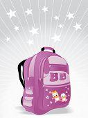 school bag for kid vector wallpaper