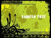 abstract grunge with arrows and sample text, vector illustration
