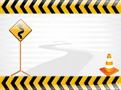 image of traffic sign  - vector road sign illustration - JPG