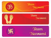 set of different design banner for ram navami