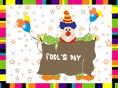 abstract funny background for fools day, vector image