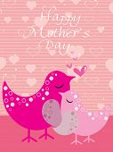 happy mother day background with bird