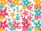 colorful flower background, vector wallpaper
