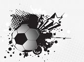 abstract background with grunge soccer vector