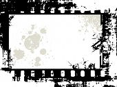 grunge film frame with space for your text or image, vector illustration