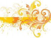 fundo sujo com amarelo arte criativa