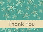 florals background with thank you text