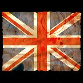 Old Burned Paper Union Jack