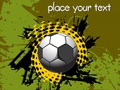 grunge background with isolated soccer and sample text