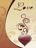 abstract design chocolate love card