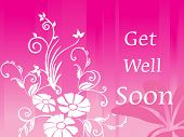 stock photo of get well soon  - get well soon floral - JPG