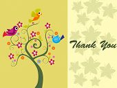 pic of thank you card  - vector illustration for happy thankgiving day - JPG
