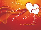 abstract brown dotted, wave background with romantic heart