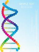 abstrato com onda azul, espiral de ADN colorido