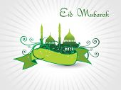 stock photo of eid mubarak  - vector illustration of religious eid background - JPG