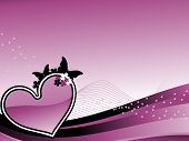 purple abstract background with romantic purple heart