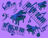 Abstract Musical Display Vector