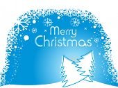 ABSTRACT SKYBLUE SNOWFLAKE BACKGROUND FOR MERRY CHRISTMAS