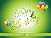 beautiful happy birthday background illustration