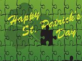 beautiful puzzle background for happy st patricks day