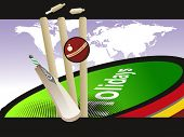 abstract world cup concept cricket background, vector illustration