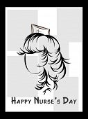 vector greeting card for happy nurse's day celebration