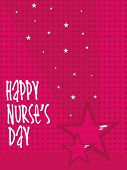 abstract design greeting card for nurse's day celebration