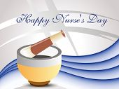medical concept background for happy nurse's day celebration