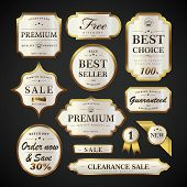 Elegant Pearl White Labels Set poster