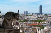 Chimera overlooking the Montparnasse Tower