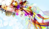 Abstract Natural Flow Background