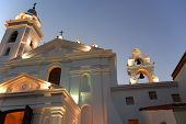 stock photo of senora  - Recoleta church dedicated to Nuestra Senora del Pilar with a cemetery attached - JPG