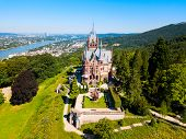 Schloss Drachenburg Castle Is A Palace In Konigswinter On The Rhine River Near The City Of Bonn In G poster