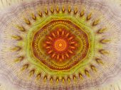 Kaleidoscope Pattern Abstract Background. Computer Generated Geometrical Symmetrical Ornament Design poster