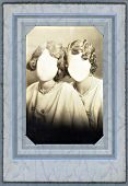 Antique Photo Frame From The 1920'S With Faceless Women