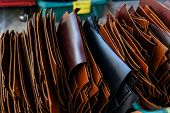 Genuine Raw Vegetable Tanned Leather In Leather Store poster