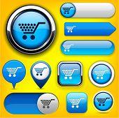 Buy blue design elements for website or app. Vector eps10.